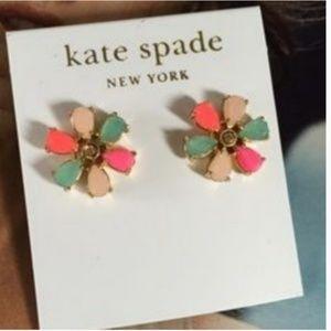 kate spade garden of paris flower earring studs nw